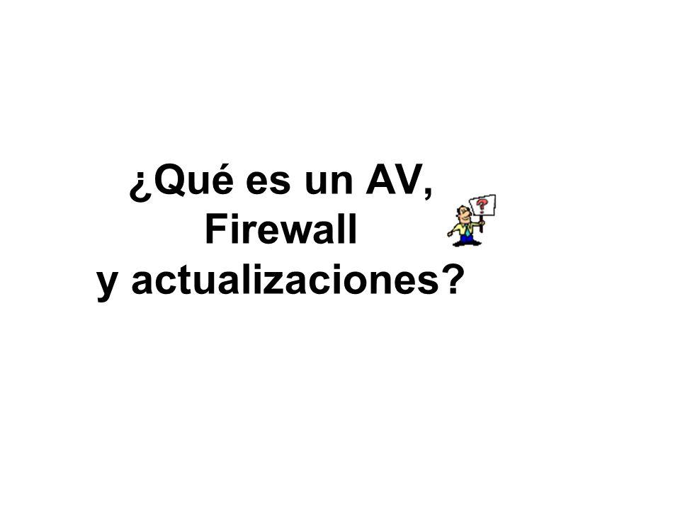 ¿Qué es un AV, Firewall y actualizaciones