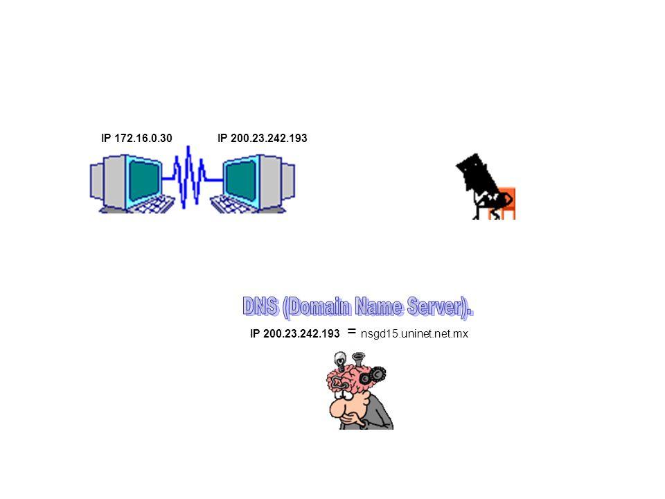 DNS (Domain Name Server).