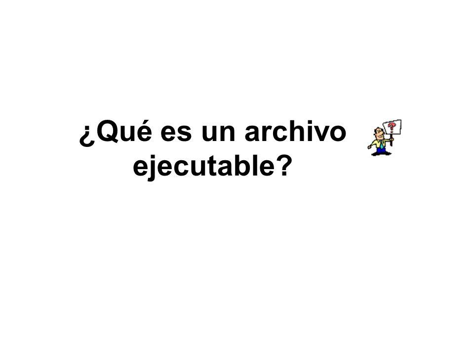 ¿Qué es un archivo ejecutable
