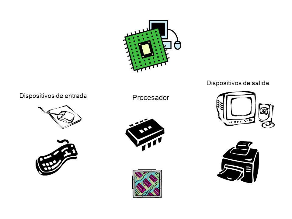 Procesador Dispositivos de salida Dispositivos de entrada