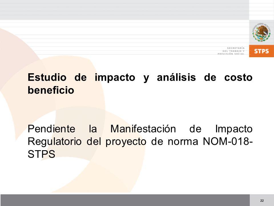 Estudio de impacto y análisis de costo beneficio