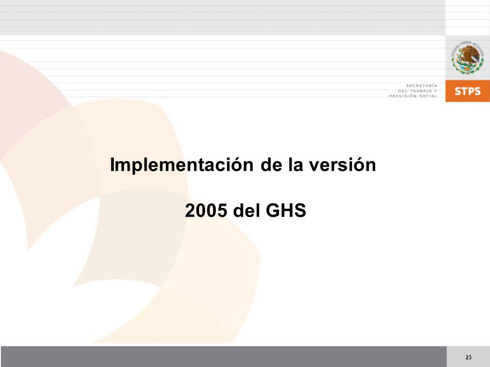 Implementación de la versión