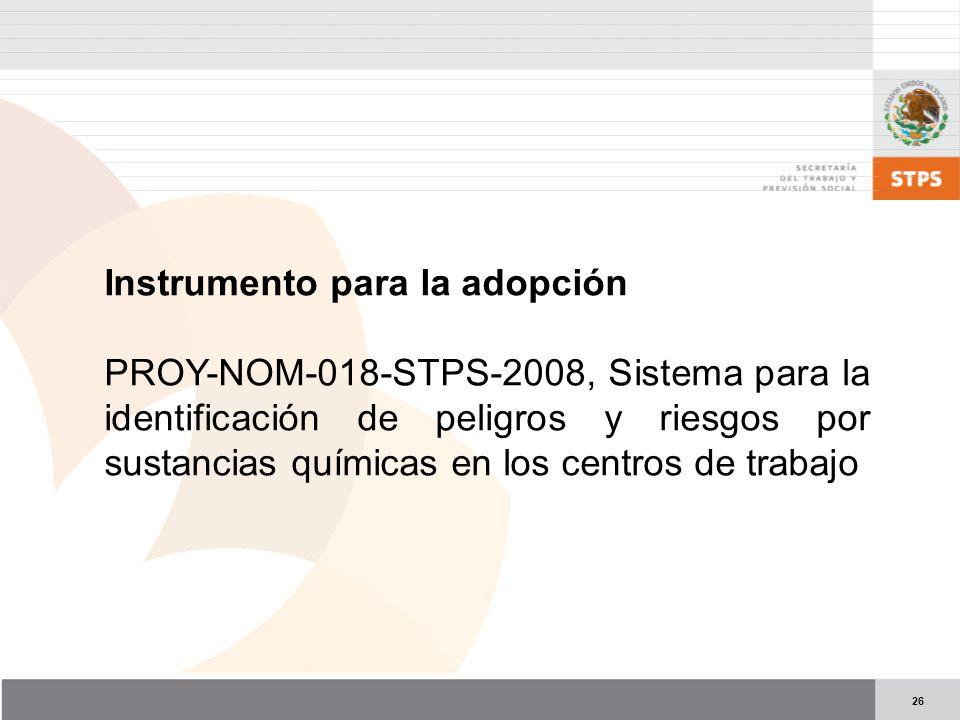 Instrumento para la adopción