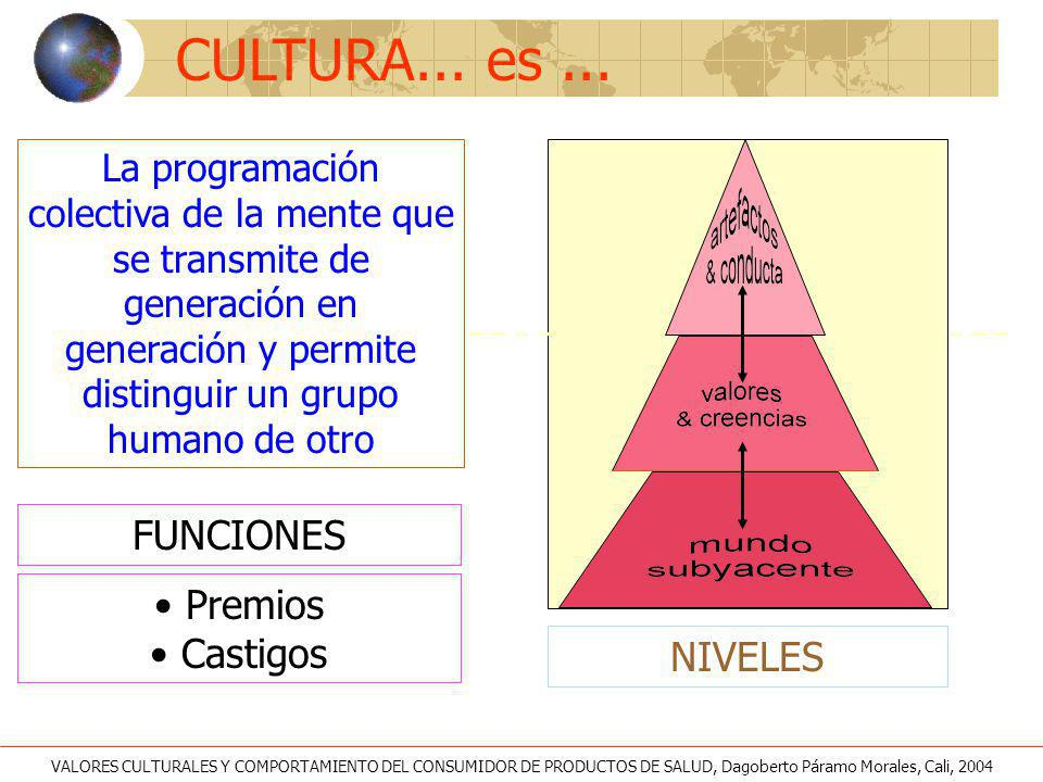 CULTURA... es ... FUNCIONES Premios Castigos NIVELES
