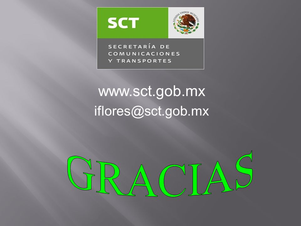 www.sct.gob.mx iflores@sct.gob.mx GRACIAS