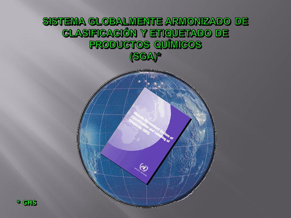 SISTEMA GLOBALMENTE ARMONIZADO DE CLASIFICACIÓN Y ETIQUETADO DE
