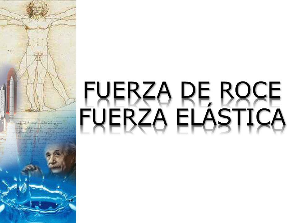 FUERZA DE ROCE FUERZA ELÁSTICA