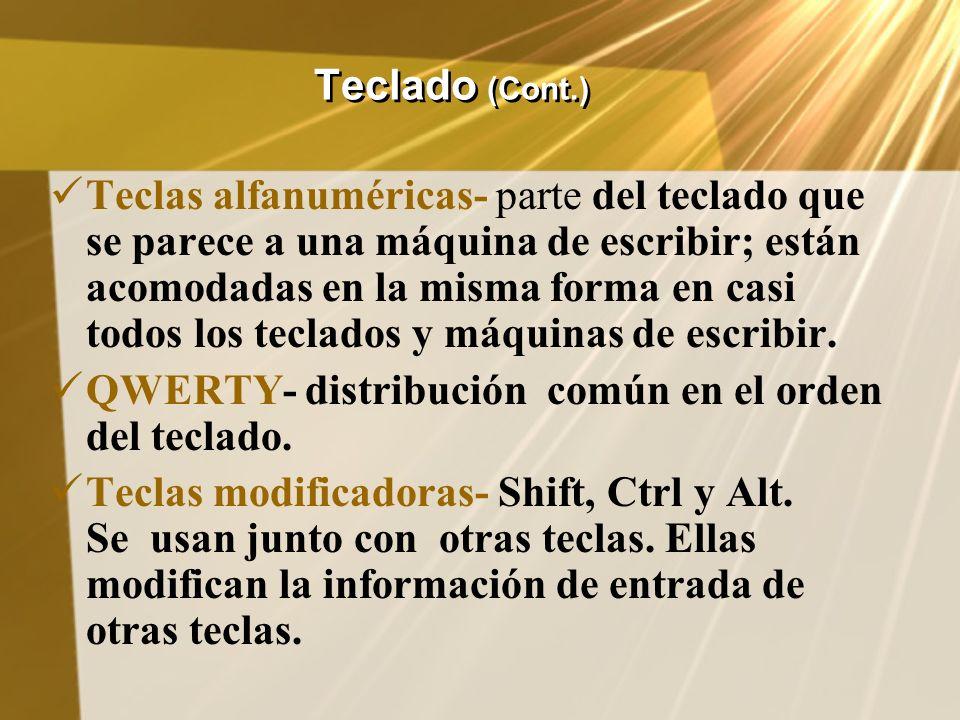 Teclado (Cont.)