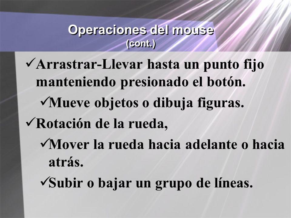 Operaciones del mouse (cont.)