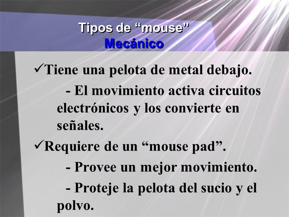 Tipos de mouse Mecánico