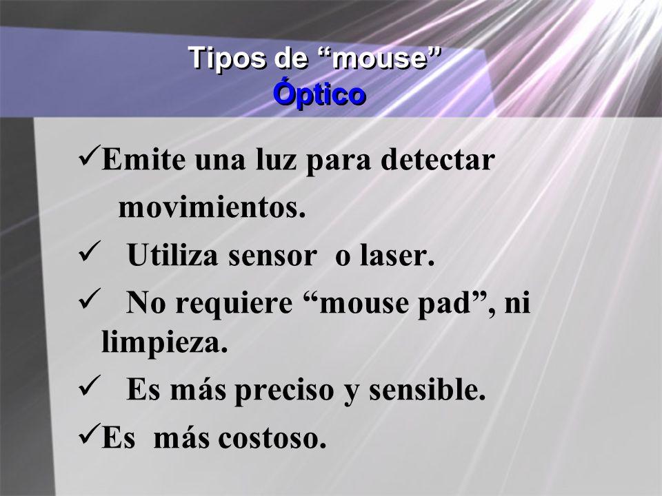 Tipos de mouse Óptico