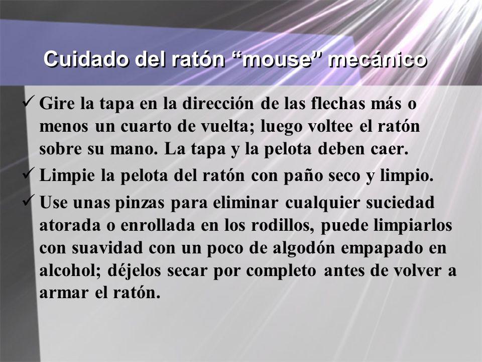 Cuidado del ratón mouse mecánico