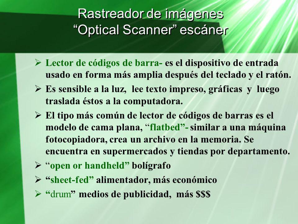 Rastreador de imágenes Optical Scanner escáner