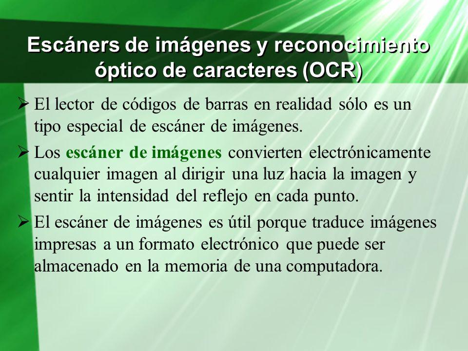 Escáners de imágenes y reconocimiento óptico de caracteres (OCR)