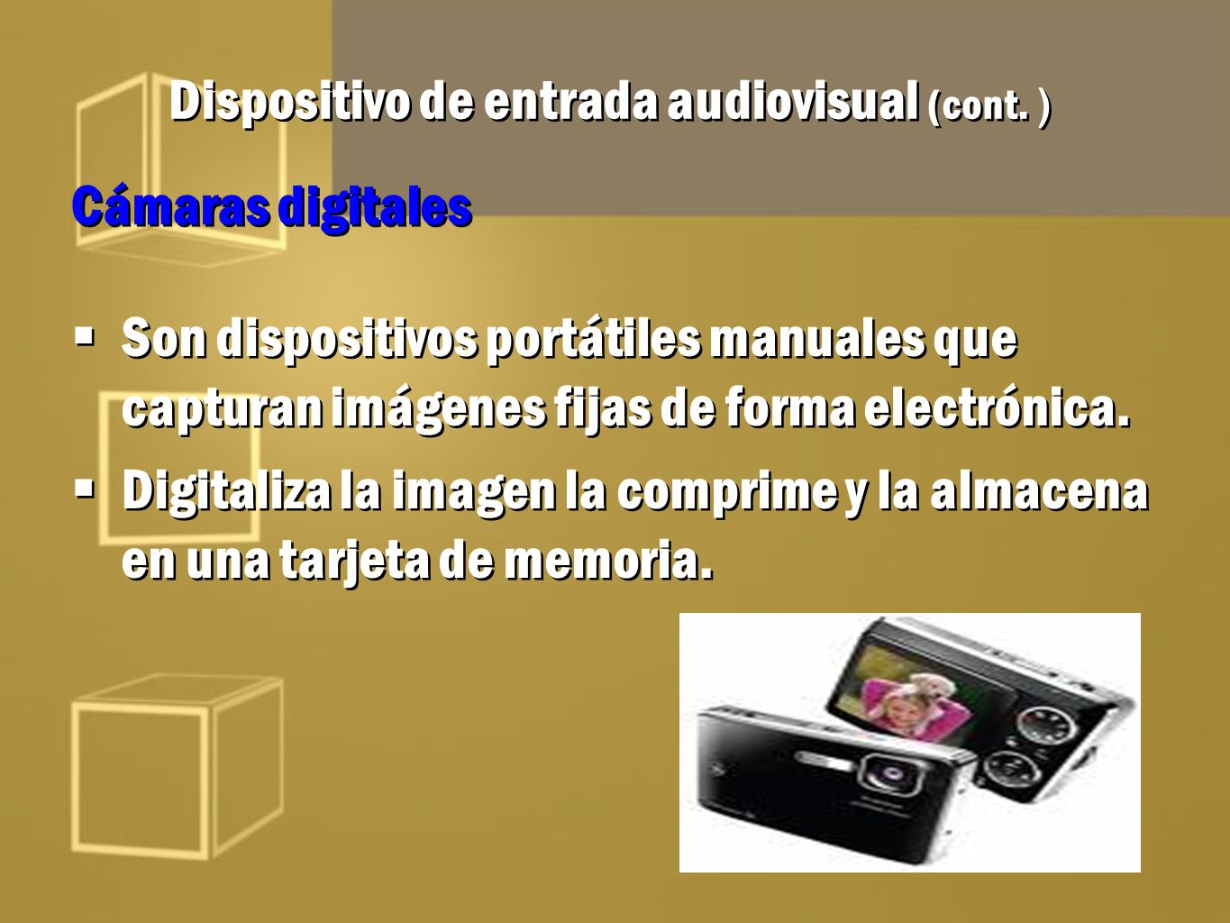 Dispositivo de entrada audiovisual (cont. )