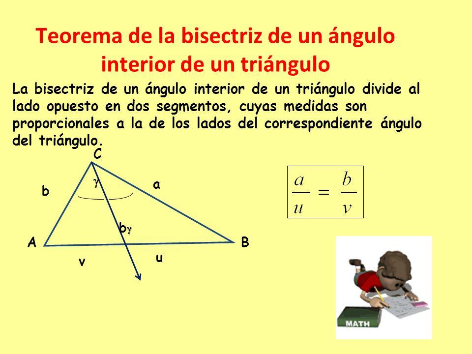 Teorema de la bisectriz de un ángulo interior de un triángulo