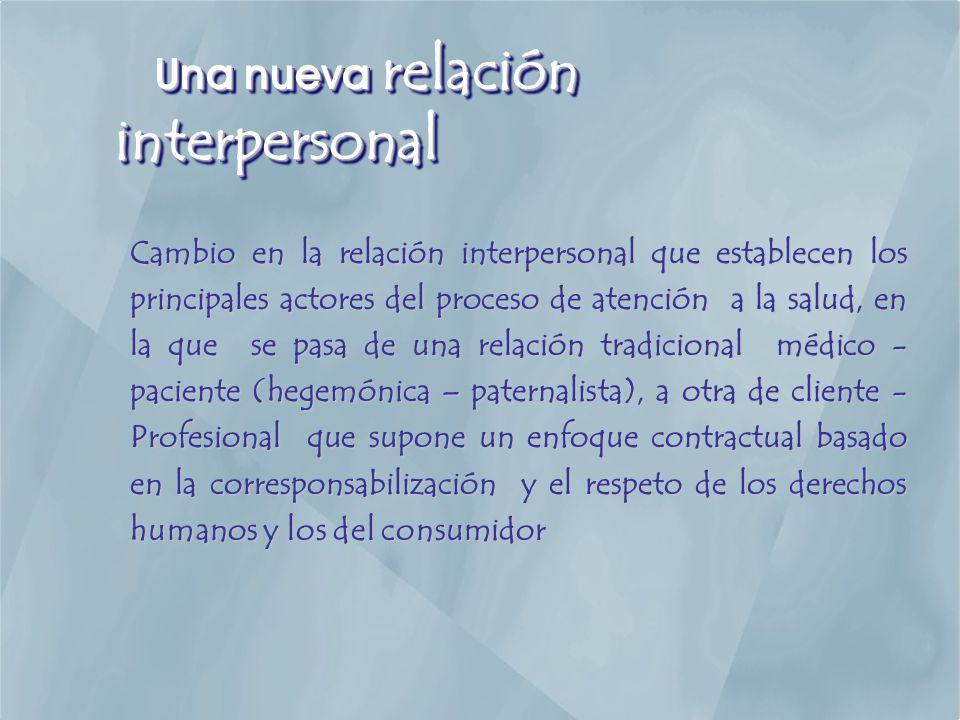 Una nueva relación interpersonal