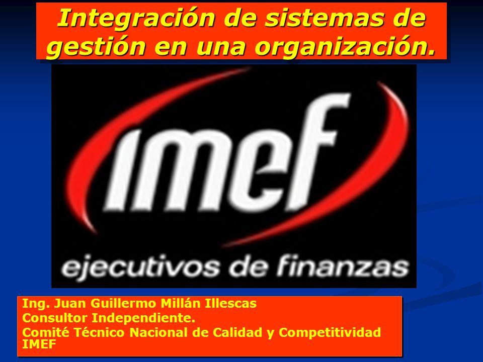 Integración de sistemas de gestión en una organización.
