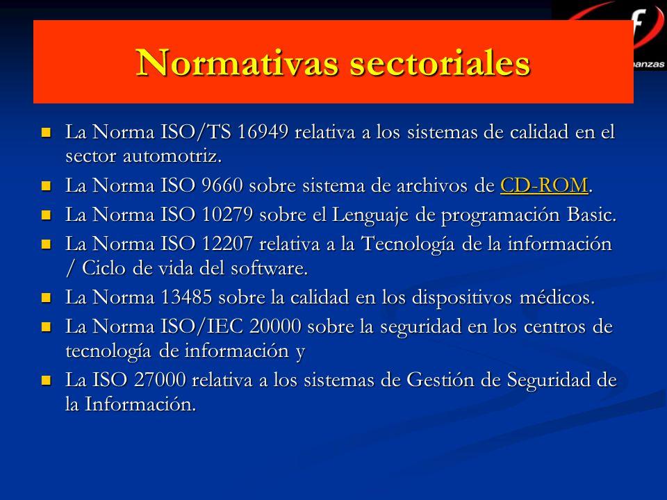 Normativas sectoriales