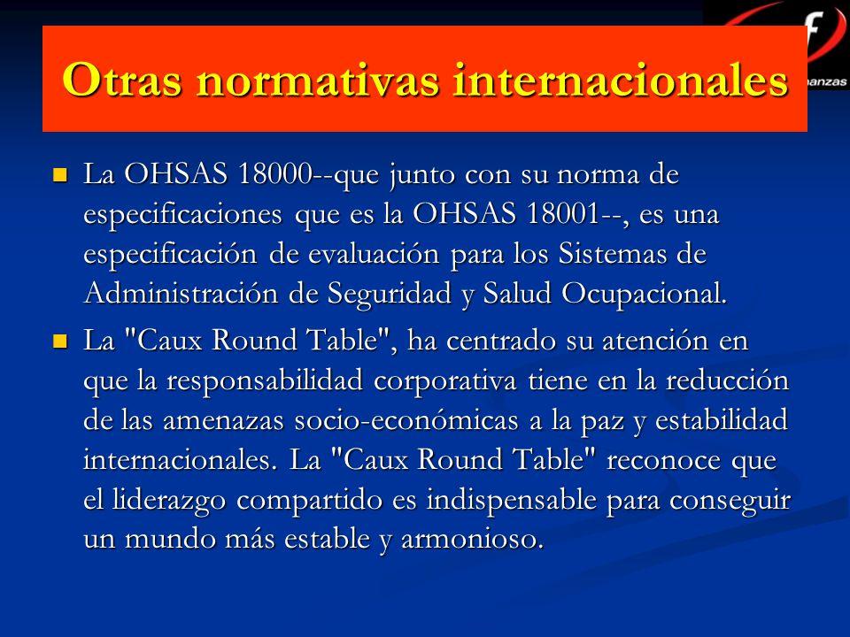 Otras normativas internacionales