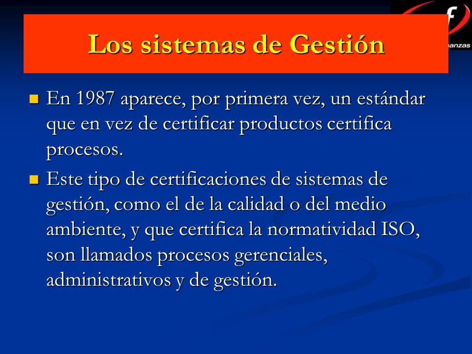 Los sistemas de Gestión