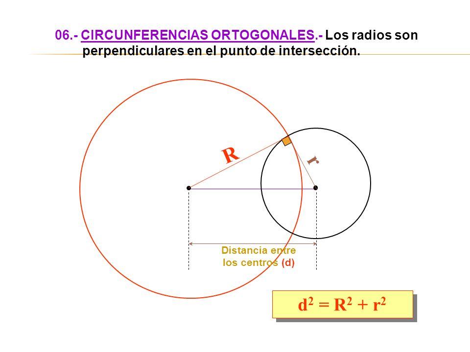 06. - CIRCUNFERENCIAS ORTOGONALES