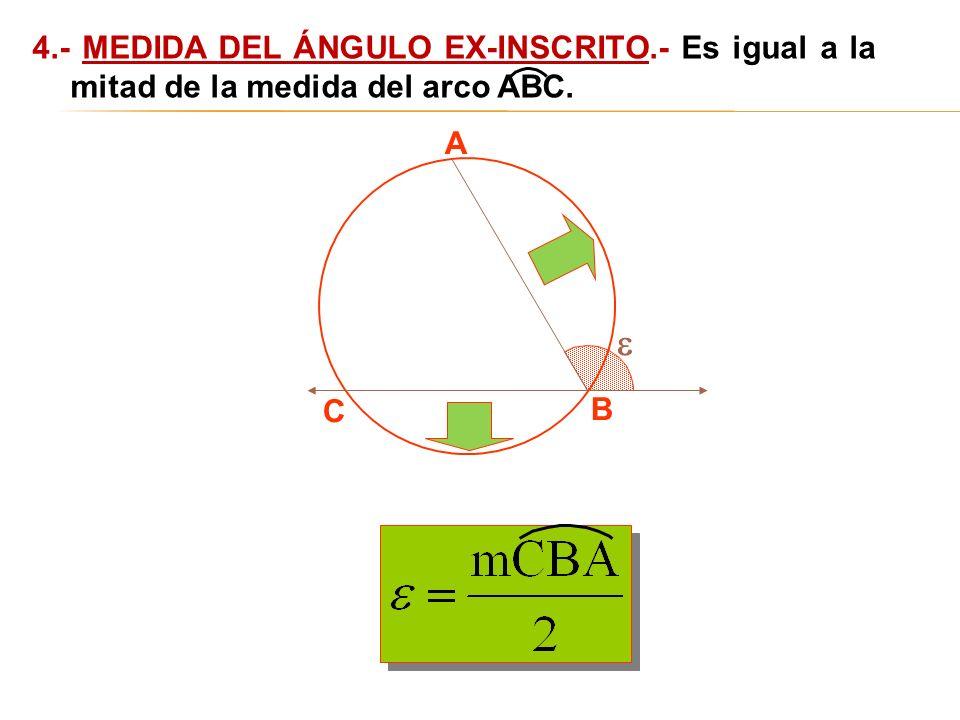 4. - MEDIDA DEL ÁNGULO EX-INSCRITO