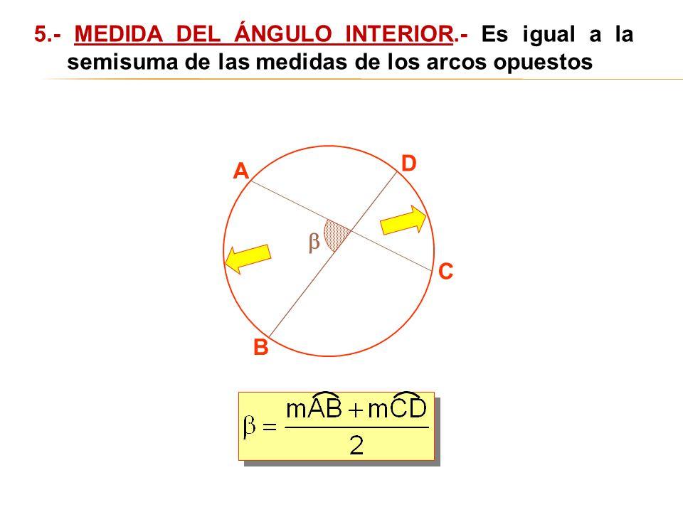 5. - MEDIDA DEL ÁNGULO INTERIOR