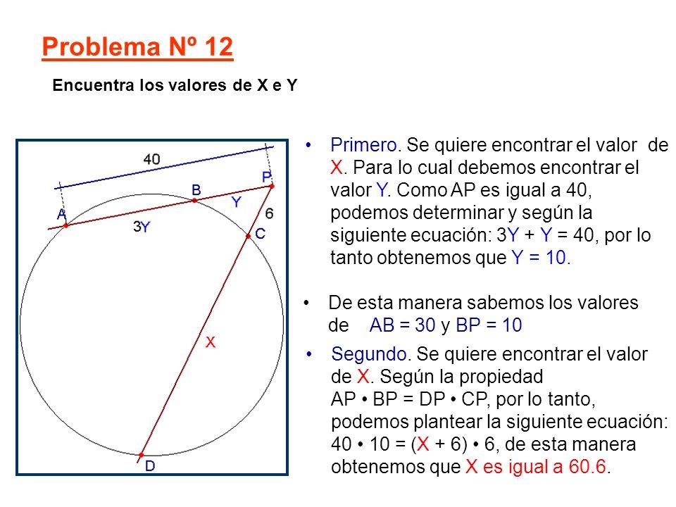 Problema Nº 12 Encuentra los valores de X e Y.