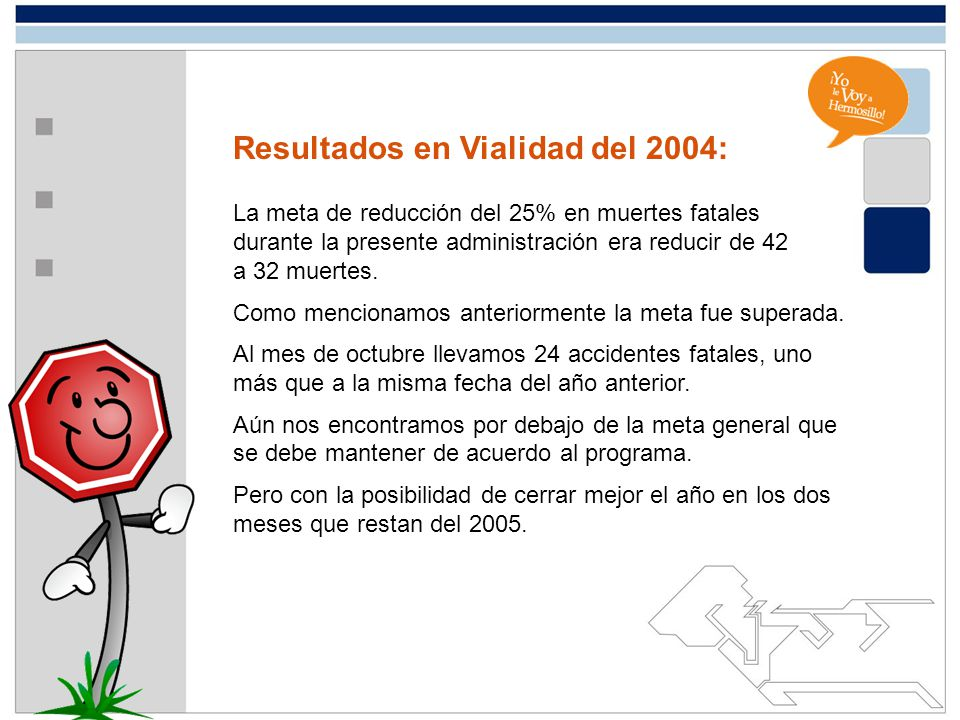 Resultados en Vialidad del 2004: