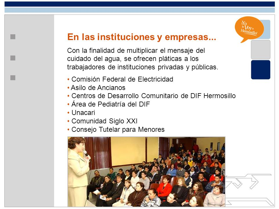 En las instituciones y empresas...