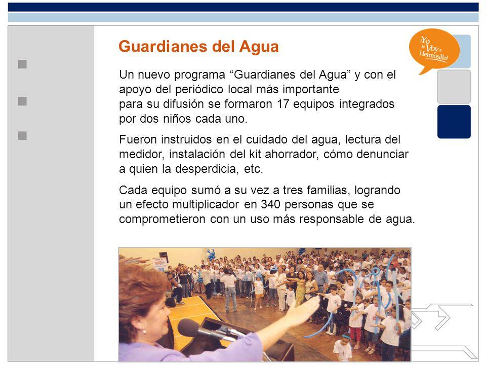 Guardianes del Agua Un nuevo programa Guardianes del Agua y con el