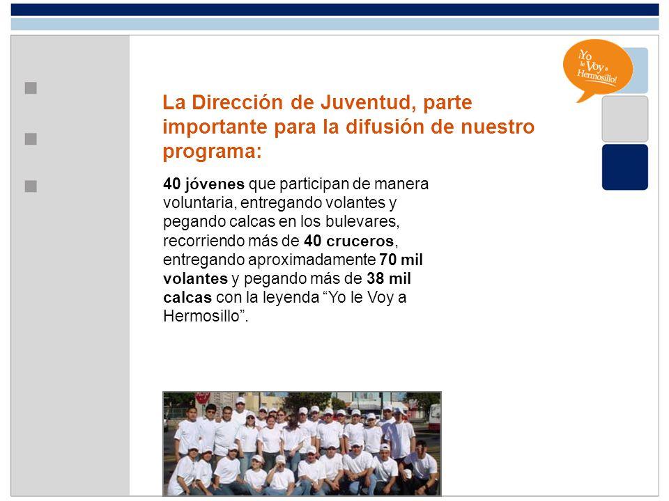 La Dirección de Juventud, parte importante para la difusión de nuestro programa: