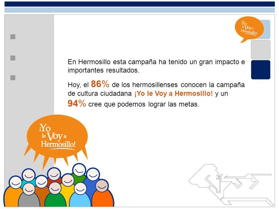 En Hermosillo esta campaña ha tenido un gran impacto e importantes resultados.