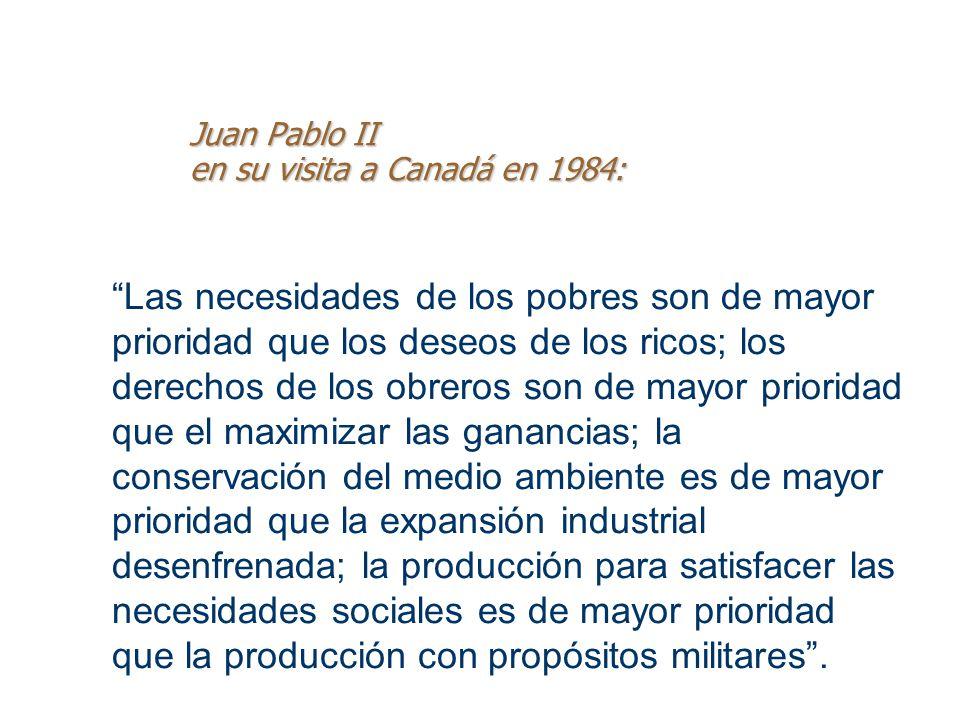 Juan Pablo II en su visita a Canadá en 1984: