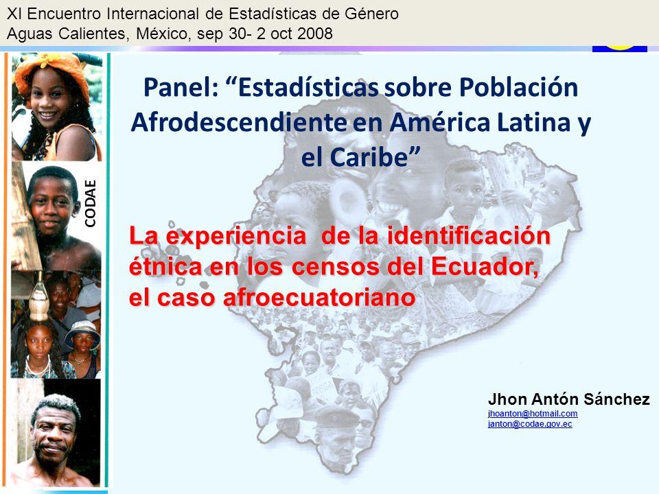 XI Encuentro Internacional de Estadísticas de Género