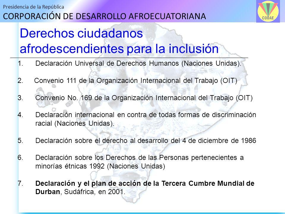 Derechos ciudadanos afrodescendientes para la inclusión