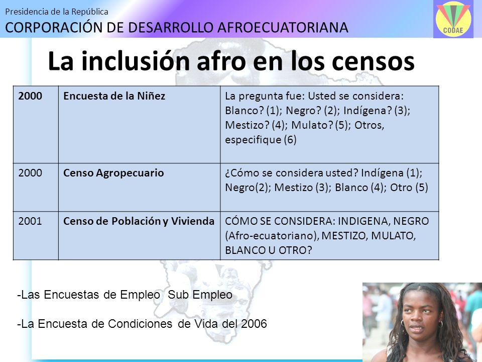 La inclusión afro en los censos