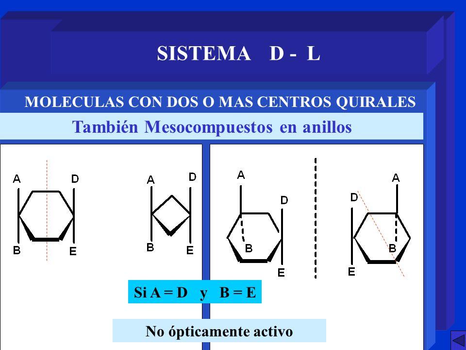 SISTEMA D - L También Mesocompuestos en anillos