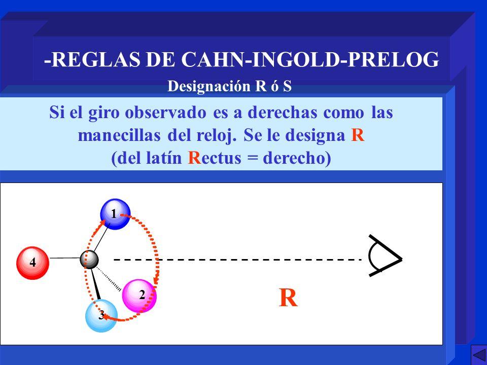 -REGLAS DE CAHN-INGOLD-PRELOG (del latín Rectus = derecho)