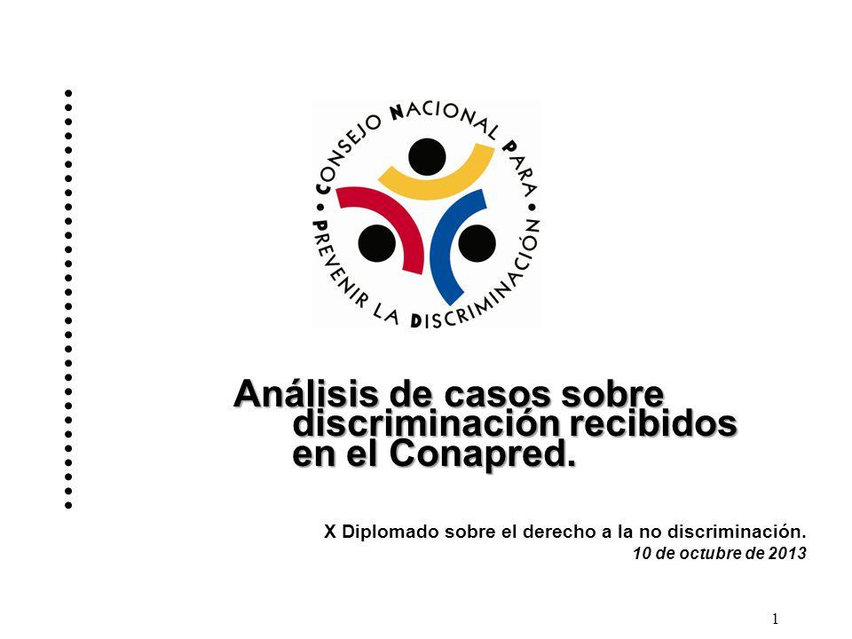 Análisis de casos sobre discriminación recibidos en el Conapred.