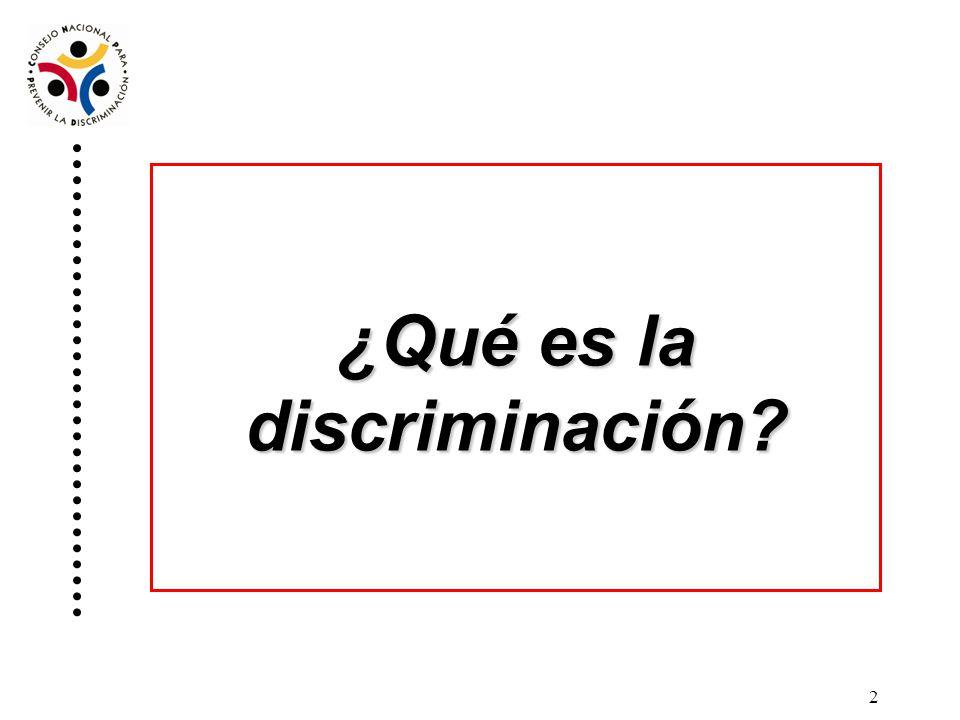 ¿Qué es la discriminación