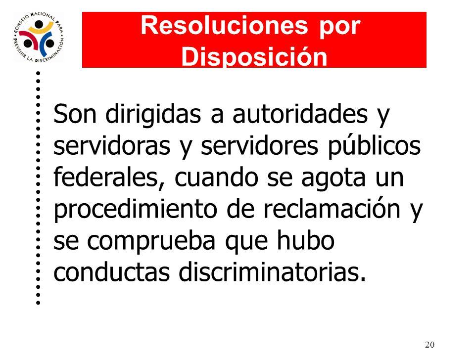 Resoluciones por Disposición.