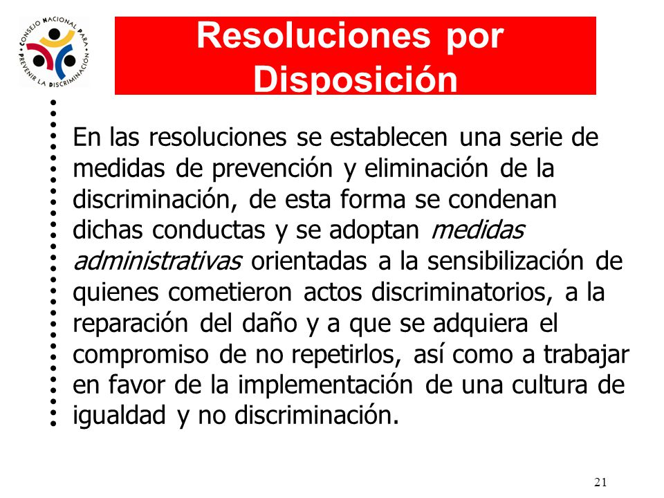Resoluciones por Disposición
