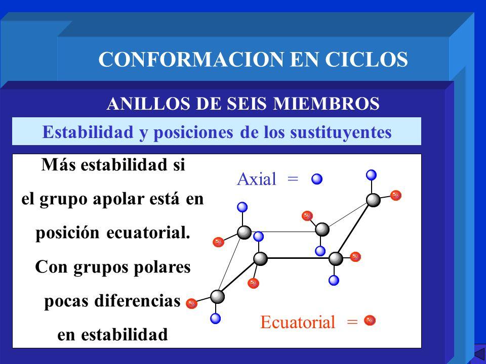 CONFORMACION EN CICLOS