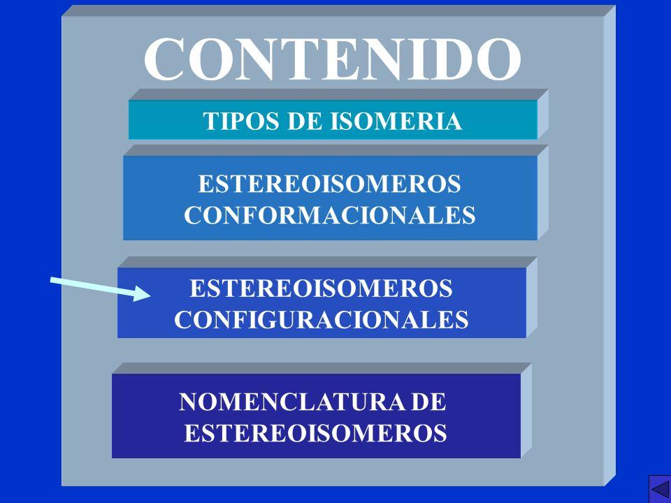 ESTEREOISOMEROS CONFORMACIONALES ESTEREOISOMEROS CONFIGURACIONALES