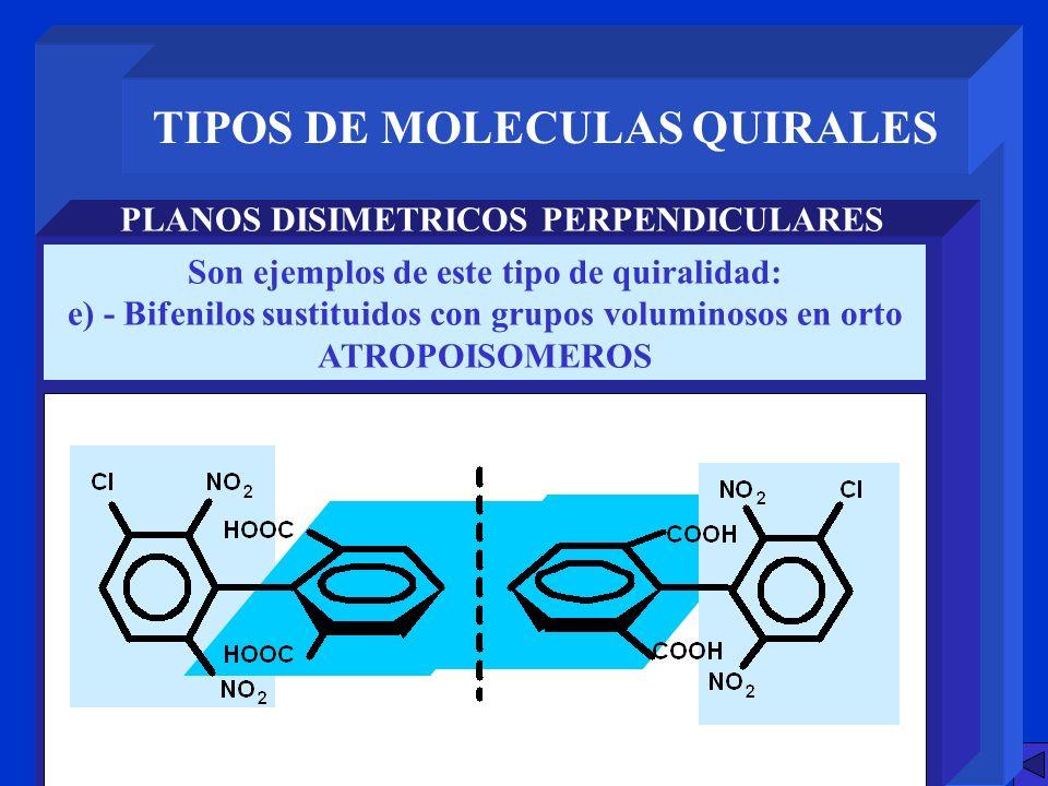 TIPOS DE MOLECULAS QUIRALES