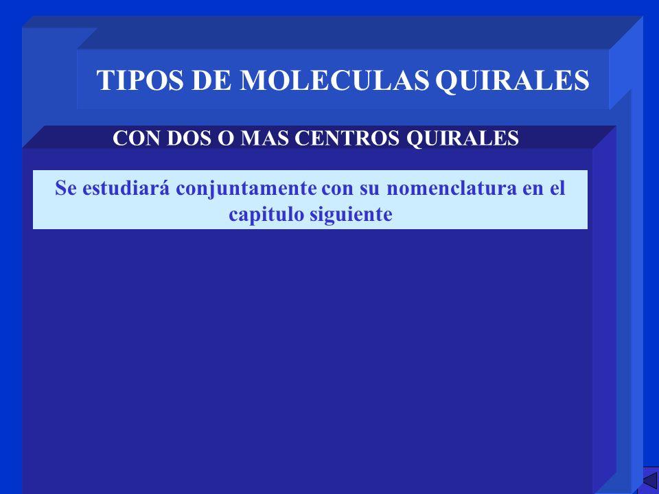 TIPOS DE MOLECULAS QUIRALES CON DOS O MAS CENTROS QUIRALES