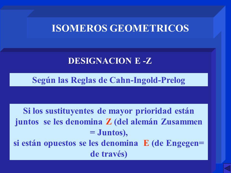 ISOMEROS GEOMETRICOS DESIGNACION E -Z