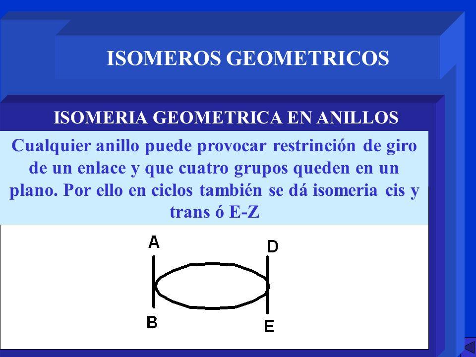 ISOMERIA GEOMETRICA EN ANILLOS